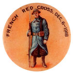 """FRENCH RED CROSS DEC. 6-1918"" AUSTRALIAN BUTTON."