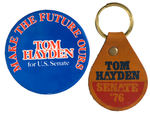 SDS FOUNDER & ANT VIETNAM WAR ACTIVIST'S TOM HAYDEN CAMPAIGN ITEMS