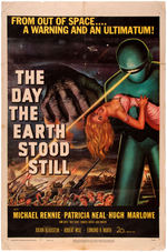 """THE DAY THE EARTH STOOD STILL"" CLASSIC SCIENCE FICTION MOVIE POSTER."