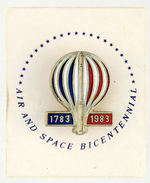 """AIR AND SPACE BICENTENNIAL"" ENAMEL PIN."