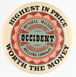 """OCCIDENT MILLING COMPANY"" MIRROR."