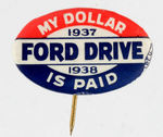 1937-38 FORD MOTORS UNION BUTTON.