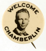 "AVIATOR ""CHAMBERLIN"" WELCOME BUTTON."