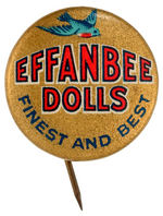 """EFFANBEE DOLLS"" BUTTON USED ON DOLLS C. 1920s"