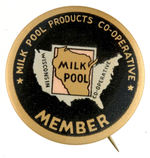 "WISCONSIN ""MILK POOL"" BUTTON."