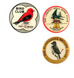 THREE EARLY BIRD CLUB BUTTONS FROM HAKE COLLECTION & CPB.