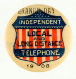 INDEPENDENT TELEPHONE SERVICE BUTTON.