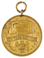 """NEW YORK AMERICAN"" NEWSPAPER SWIMMING AWARD MEDAL."""