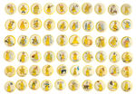 YELLOW KID COMPLETE COLLECTION OF BUTTONS #1-160.