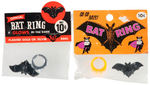 BATMAN INSPIRED PAIR OF BAT RINGS IN DISPLAY BAGS.