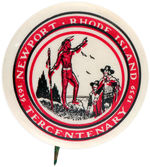 NEWPORT RHODE ISLAND 400TH ANNIVERSARY BUTTON.