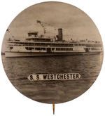 "CPB SHIPS #229 ""S. S. WESTCHESTER"" REAL PHOTO BUTTON."