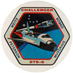 SHUTTLE CHALLENGER POCKET MIRROR.