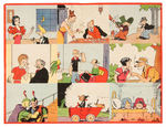 KFS PREMIUM MULTI COMIC STRIP CHARACTER FLAG C. 1937.