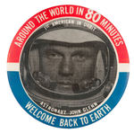 "ASTRONAUT GLENN  ""1ST AMERICAN IN ORBIT"" BUTTON"
