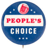 FAUX CAMPAIGN BUTTON FROM PRUDENTIAL INSURANCE c. 1956.