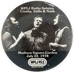 """WPLJ RADIO SALUTES CROSBY, STILLS & NASH"" CONCERT BUTTON"
