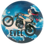 """EVEL"" KNIEVEL c. 1974 MOTORCYCLE STUNT BUTTON"