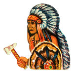 INDIAN CHIEF MECHANICAL CLICKER TOY