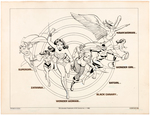 WOMEN OF DC COMICS LICENSING STYLE GUIDE ORIGINAL ART BY JOSÉ LUIS GARCÍA-LÓPEZ.