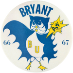 RARE BATMAN-THEMED 1966/1967 HIGH SCHOOL GRADUATION BUTTON.