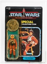 """STAR WARS: THE POWER OF THE FORCE- LUKE SKYWALKER (X-WING FIGHTER PILOT)"" 92 BACK AFA 85 Y-NM+."