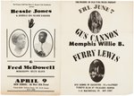 "BLUES AND FOLK EPHEMERA LOT INCLUDING 1958-59 ""FOLKSONG CONCERTS"" AND MISSISSIPPI FRED McDOWELL."