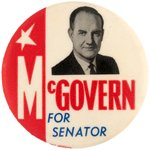 """McGOVERN FOR SENATOR"" PORTRAIT BUTTON HAKE #2285."