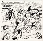 "JACK KIRBY ""INCREDIBLE HULK"" #3 COMIC BOOK PAGE ORIGINAL ART."