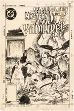 """HOUSE OF MYSTERY"" #312 COMIC BOOK COVER ORIGINAL ART BY MICHAEL KALUTA (I... VAMPIRE!)."