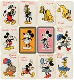 """MICKEY MOUSE PLAYING CARDS"" & ""SILLY SYMPHONY SNAP CARDS"" BOXED PAIR."