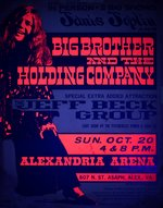 """JANIS JOPLIN"" BIG BROTHER AND THE HOLDING COMPANY 1968 BLACK LIGHT CONCERT POSTER BY DAIL BEEGHLY."