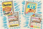 "KELLOGG'S ""JET FIGHTER PLANES"" & CHEERIOS/KIX ""GUIDED MISSILES"" PREMIUM PROMOTIONAL PAIR."