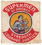 "SUPERMAN ""SUPERMEN OF AMERICA"" RARE EARLY CLUB MEMBER'S PATCH."