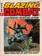 "FRANK FRAZETTA ""BLAZING COMBAT"" #4 COMIC MAGAZINE COVER ORIGINAL ART."