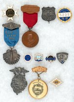 RAILROAD CRAFT ASSOCIATION  12 QUALITY MADE CONVENTION PIN-BACK BADGES FROM 1896-1919.