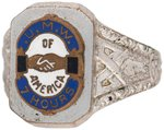 "LABOR UNITED MINE WORKERS OF AMERICA ""7 HOURS"" ENAMEL RING."