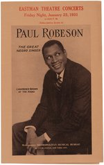 "PAUL ROBESON ""THE GREAT NEGRO SINGER"" 1931 CONCERT PROGRAM."