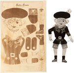 """BUSTER BROWN PUPPET"" PREMIUM MARIONETTE PROTOTYPE ORIGINAL ART LOT."