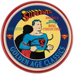"SUPERMAN ""SUPERMEN OF AMERICA"" LIMITED EDITION REPRODUCTION RING SET (SILVER WITH DIAMOND)."