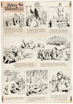 """PRINCE VALIANT IN THE DAYS OF KING ARTHUR"" 1969 SUNDAY PAGE ORIGINAL ART BY HAL FOSTER."