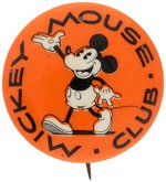 MICKEY MOUSE CLUB EARLY MOVIE THEATRE CLUB MEMBER'S BUTTON C. 1930.