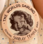SHIRLEY TEMPLE IDEAL COMPOSITION DOLL WITH TAG & BUTTON.