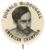 "FIRST SEEN BUTTON FOR 1912 ""AMERICAN CHAMPION"" BICYCLE RACING CYCLIST."
