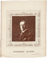 WOODROW WILSON FRENCH MADE WOVEN SILK PORTRAIT TEXTILE.