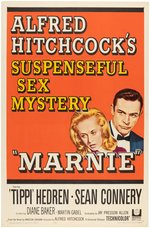 """MARNIE"" ALFRED HITCHCOCK ONE SHEET MOVIE POSTER."