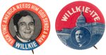 "PAIR OF CLASSIC WILLKIE BUTTONS INCLUDING ""WILLKIE-ITE""."
