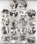 THREE STOOGES 18 MOVIE SCENE BUTTONS FROM LICENSED © 1983 N.M.P. SERIES.