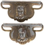 "PAIR OF RARE ""TAFT 1908"" SUSPENDER CLIPS."