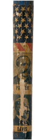 PARKER/DAVIS SCARCE APPLIED PAPER JUGATE PARADE CANE.